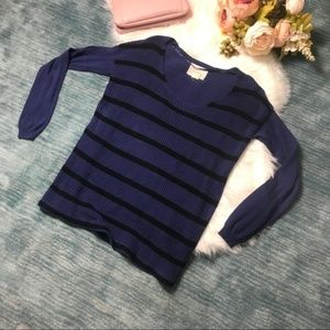Urban Outfitters Navy & Black Striped Sweater